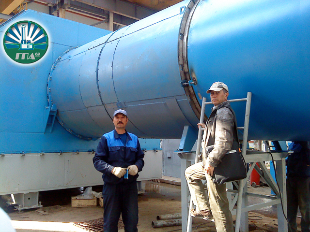 ГПА, ГПА-63, Газоперекачивающий агрегат, Монтаж воздуховода, газпром