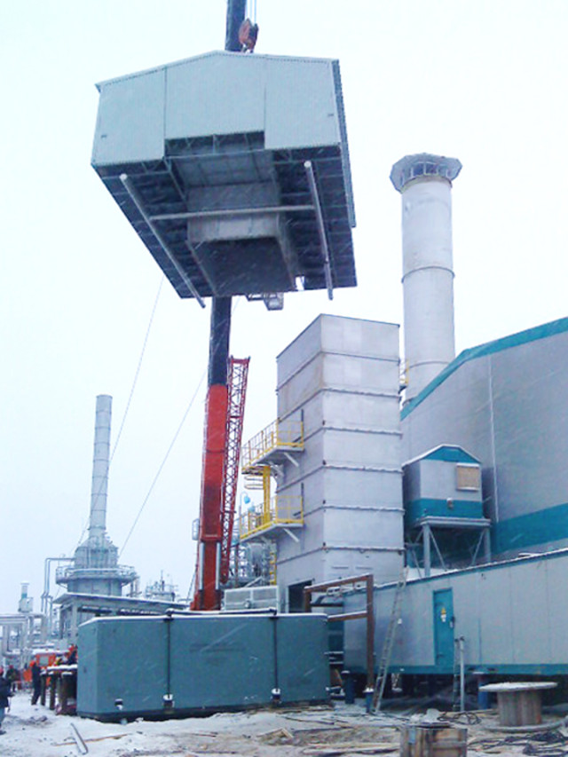 ГПА, ВОУ, Газоперекачивающий агрегат, Воздухоочистительное устройство, Монтаж